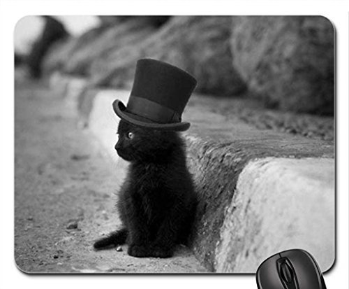 mad hatter kitty Mouse Pad, Mousepad (Cats Mouse Pad) by Rock Bull