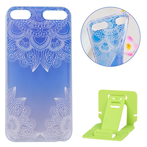 ipod Touch 5 Hülle,ipod Touch 6 TPU Gel Case Bumper,Ekakashop Bunte Transparent Comic Gradient Blauem Muster Crystal Klar Flexible Case Silikon Defender Protective Schutzhülle Durchsichtig mit Niedliche Cartoon für Apple - 4 Ipod Minecraft Touch Hülle
