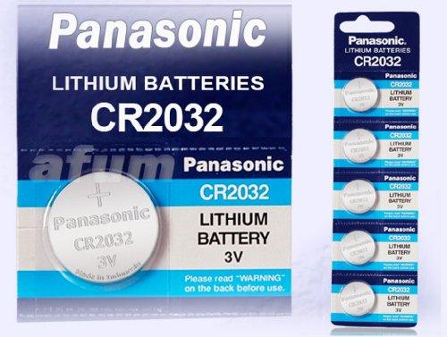 10 x PANASONIC lithium 3v knopfzelle cr2032 / kcr2032 / dl2032/