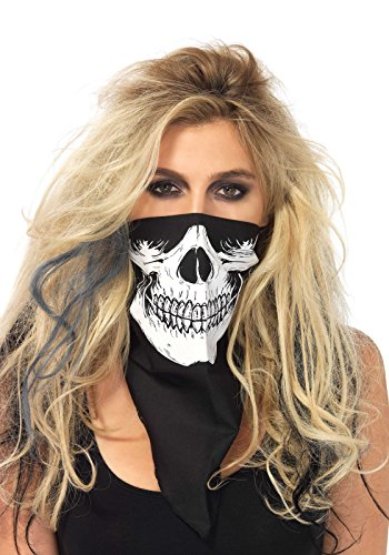 Leg Avenue 2141 - Skull Bandana, Einheitsgröße (Schwarz-Weiß)