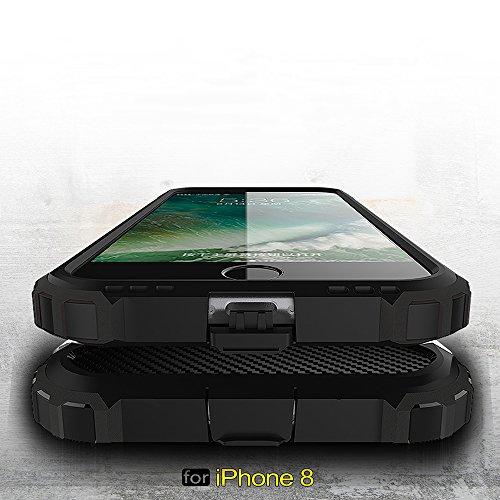 iPhone 8 Custodia, 2-in-1 Cases Protettivo Estrema Assorbimento-Urti Armatura Cover Per iPhone 8. (Oro) Rosso