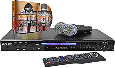 Vocal-Star VS-800 HDMI Multi Format Karaoke Machine with 2 Microphones and 150 Songs …