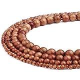 Rubyca vente en gros Naturel Pierre précieuse Cristal Rond Perles de courroie pour DIY Bijoux 1Mèche