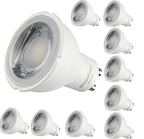 10er Packung - 8W - LED GU10 -650 Lumen- 230V Lampe Leuchtmittel 8 Watt warmweiss ersetzt spielend einen 50 Watt Halogenstrahler [Energieklasse A++]