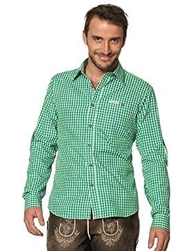 Stockerpoint Trachtenhemd kariert Krempelarm Campos2 dunkelgrün, M