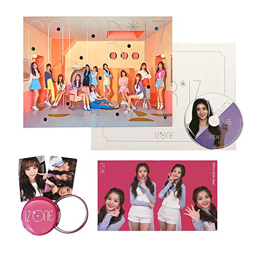 IZONE 1st Mini Album - COLOR*IZ [ COLOR ver  ] CD + Photobook + Folding  Photo Cover + Photocards + Folding Mini Photobook + FREE GIFT / K-pop Sealed