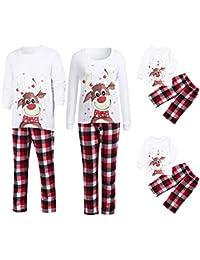 87208fa27b POLP Niño Conjunto de Pijamas Familiares de Navidad Trajes Navideños para  Mujeres Hombres Niño Ropa Invierno