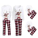 POLP Niño Conjunto de Pijamas Familiares de Navidad Trajes Navideños para Mujeres Hombres Niño Ropa Invierno Sudadera Chándal Suéter Niños de Navidad S-XL