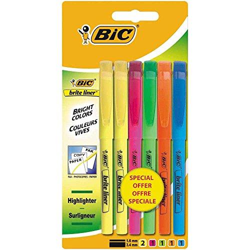 bic-brite-liner-lote-de-6-subrayadores-varios-colores