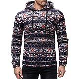 Legogo Herren Mit Kapuze Langärmelige Herbst und Winter Mode Sweatershirt(M,dunkelblau)