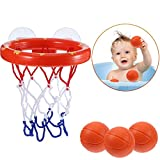 Addmos Bath toys, Ball Games Basket Hoop for the tub with 3 Balls and Suction Cups for Baby Kids Toddlers Bild