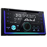 JVC KW-DB93BT Doppel-DIN CD-Receiver mit Digitalradio (DAB+),Bluetooth-Freisprechfunktion und Audiostreaming Schwarz