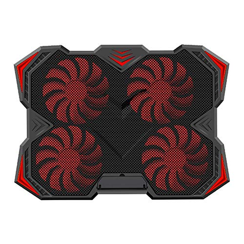 HUIGE Ventiladores portátil Almohadilla de enfriamiento para 12-17 Pulgadas portátil, Enfriador Pad con luz LED, Dual USB 2,0 Puertos