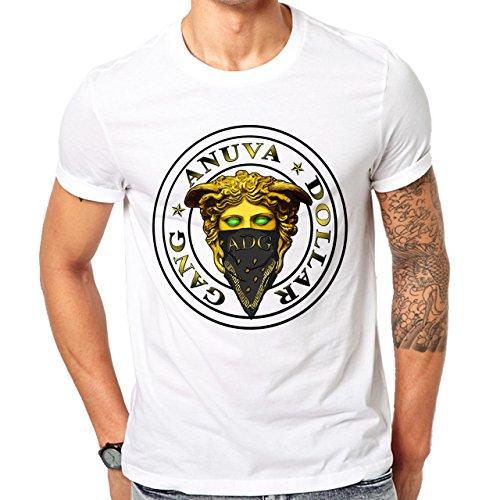 Illuminati Triangle Art Majestic Anuva Dollar Gang Herren T-Shirt Weiß