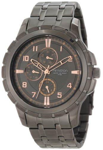 armitron-herren-20-4833trdg-rosegold-tone-accented-gunmetal-tone-multi-function-armbanduhr