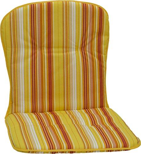 beo Gartenstuhlauflagen Paspelauflage für niedrige Stapelstühle Streifen, circa 80 x 44 x 2,5 cm, gelb/orange/weiß/mehrfarbig