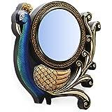 "D'Dass™ Peacock 12"" Decorative Wall Mirror / Wall Decorative/Mirror For Wall / Hanging Mirror / Painted Mirror / Small Mirror By D'Dass/Wall Mirror For Living Room/Bathroom Mirror/Mirror For Gift/Christmas & New Year Festival"
