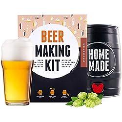 Kit para elaborar Cerveza Artesanal IPA en Casa 5L - Producto de Alemania - Disfruta tu Cerveza en sólo 7 días - Regalos Originales para Hombre - Brewbarrel Braufässchen
