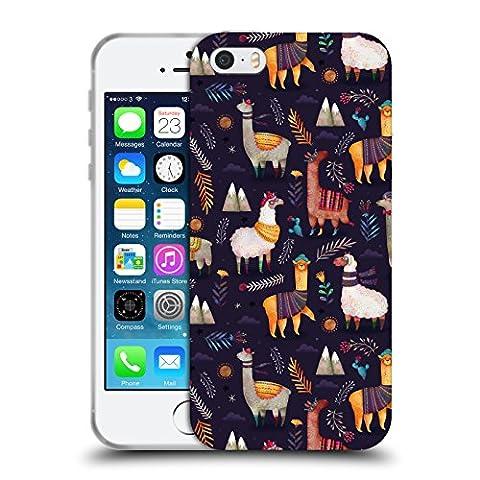 Officiel Oilikki Lamas Modèles D'animaux Étui Coque en Gel molle pour Apple iPhone 5 / 5s / SE