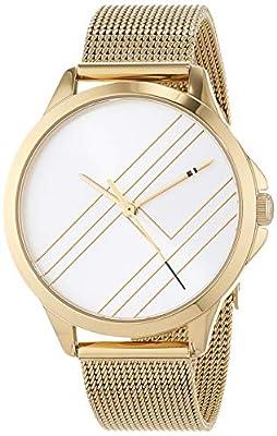 Tommy Hilfiger Reloj Analógico para Mujer de Cuarzo con Correa en Bañada en Oro 1781962