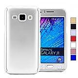 COOVY Funda para Samsung Galaxy J1 SM-J100 SM-J100F (Model 2015) 360 Grados, Carcasa Ultrafina y Ligera, con Protector de Pantalla, protección de Cuerpo Completo   Color Lata