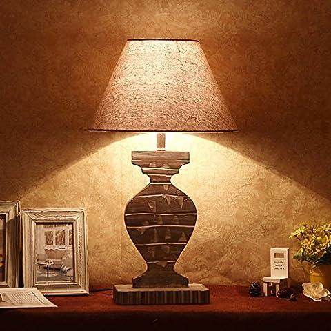 GTVERNHMinimalist Scandinavian Home Furnishing personality wooden reading lamp, wood bedroom bedside study lamps
