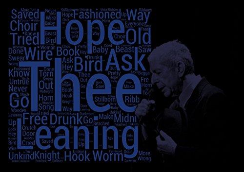 Leonard Cohen-Vogel auf der Draht-Songtext Poster-Pop Star Legende Superstar King Best Farbe Foto Bild Einzigartige Print A4Wand Poster (Woche Star Poster Der)