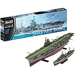 Revell- Maqueta de HMS Ark Royal & Tribal Class Destroyer, Kit Modello, Escala 1:720 (5149) (05149), Royal: 34,3 cm 15,9 cm de Largo