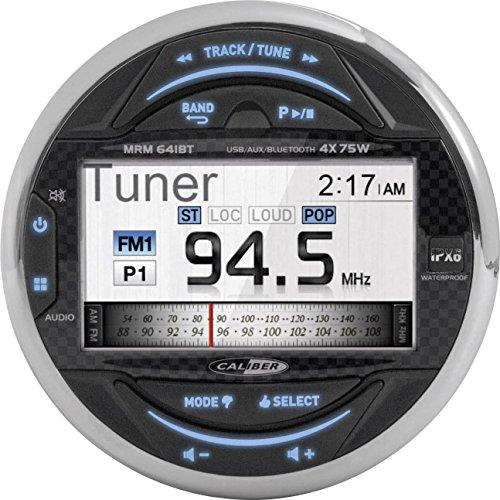 Caliber MRM641BT Wasserdicht Marine Bluetooth Radio FM AM, USB, Boot Stereo Audio MP3 Player Schwarz Marine Audio Boot
