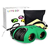 DMbaby 8x21 Compact Binoculars for Kids Birding Wide Field of Wiew Green DL01