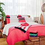 Tommy Hilfiger Home * Flat Sheets * Colour Block Strawberry Flat Sheet, King/Super King 270x300cm
