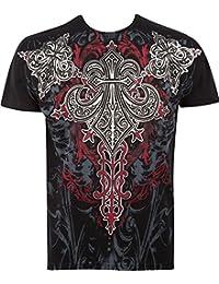 Sakkas Saints Glory T-Shirt Mode Hommes Métallique en Relief