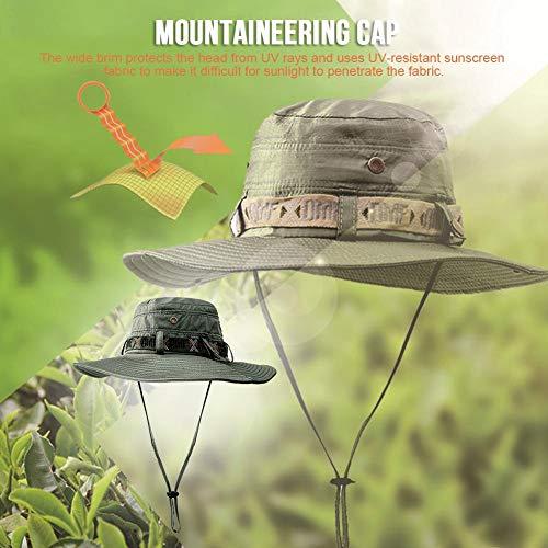 Imagen de depruies unisex pesca a prueba de agua sun boonie hat, protección contra rayos ultravioleta plegable de verano sombrero ancho de safari  de caza al aire libre para acampar, practicar kindness