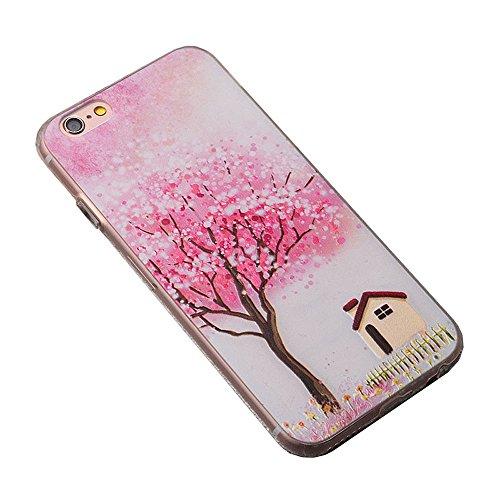 Apple Cover in Silicone TPU Case Cover TPU Gel Silicone Copertura Tacsa Custodia Caso Cover per iPhone 7 plus ( 5.5)orso Albero felice