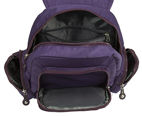 Big Handbag Shop, Borsa a zainetto donna Backpack Style 5 - Purple