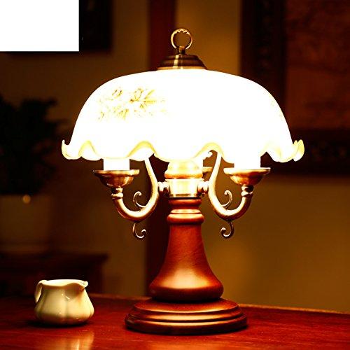 Retro dekorative lampe Rustikal large massivholz tischleuchte Schlafzimmer bett wohnzimmer dekorative tischleuchte