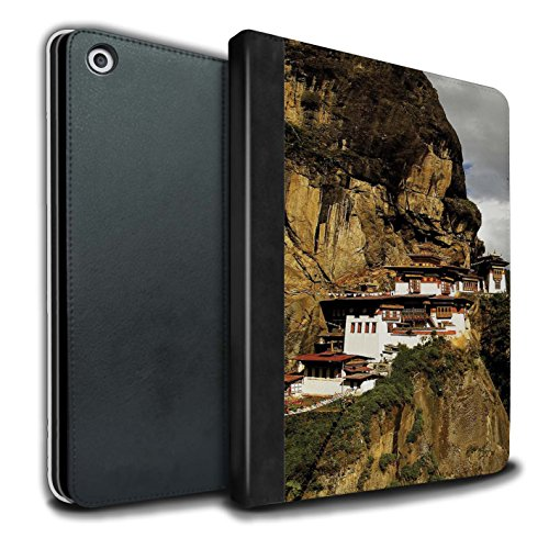 �lle/Case/Brieftasche für Apple iPad 9.7 (2017) Tablet/Paro Taktsang Muster/Innerer Frieden Kollektion ()