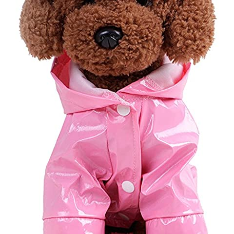 Lishy Cool Hooded Raincoat for Dogs Pet Dog Waterproof Jacket Outdoor Coat for large, medium and small dogs. Dog rain gear - Dog Clothing by Looking (L,