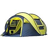 Automatisches Outdoor-Pop-Up-Zelt Für Camping Wasserdichte Schnellöffnungszelte 4 Personen Baldachin Mit Tragetasche Einfache Einrichtung Von Qisan