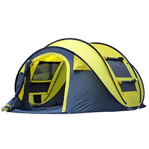 Tente Instantanée Automatique à l'Extérieur Pour Le Camping Tentes à Ouverture Rapide Imperméable à l'Eau Canopée à 4 Personnes Avec Sac De Transport Facile à Configurer Par Qisan