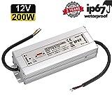 LED Trafo 12V 200W 16,7A IP67,geeignet für LED Stripes und Leuchtmittel,Upgrade...