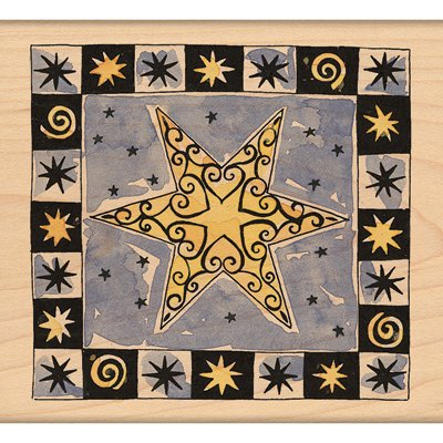Affordable Penny Black Mounted Rubber Stamp 3.5″X3.5″-Christmas Star