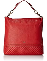 Da Milano Women's Shoulder Bag (Coral Red) (LB-4062_CORAL RED_WAX)