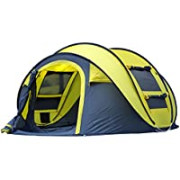 Automatic Outdoor Pop-up Tent for Camping Waterproof Quick-Opening Tents 4 Person Canopy with Carrying Bag Easy to Set up By Qisan
