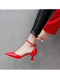 Yukun zapatos de tacón alto Sandalias De Hebilla Cruzada De Tacón Alto De  Tío S Zapatos De e235ac5c322f