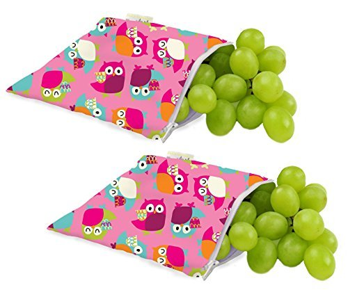 itzy-ritzy-snack-happens-reusable-snack-everything-bag-2-pack-pink-owls