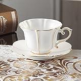 Sursy Bone China Tasse Kaffee Nach Hause Kaffeemaschine Goldenen Löffel Set Verteilung,E