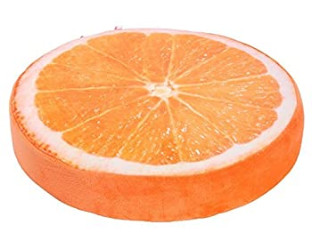 YunNasi Coussin Chaise Peluche 40cm Orange