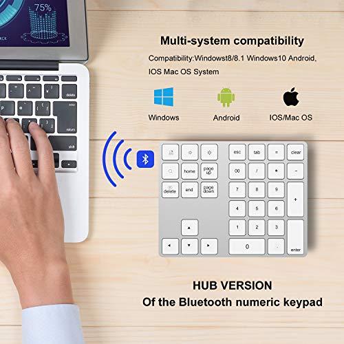 NOUDOO Teclado Numérico Inalámbrico Bluetooth Recargable