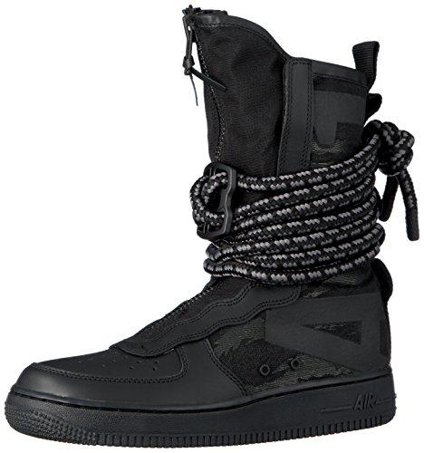 Nike sf air force 1 hi, scarpe da fitness uomo, nero (black/dark grey 002), 43 eu